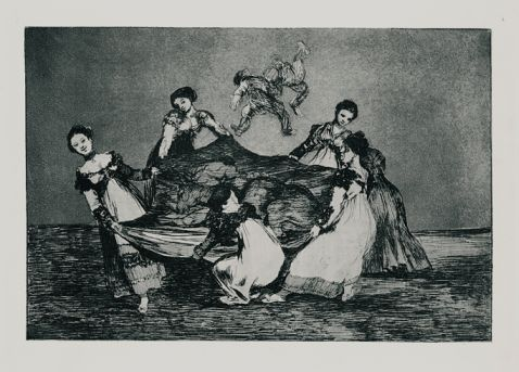 Francisco de Goya - Disparate femenino (Weibliche Torheit)