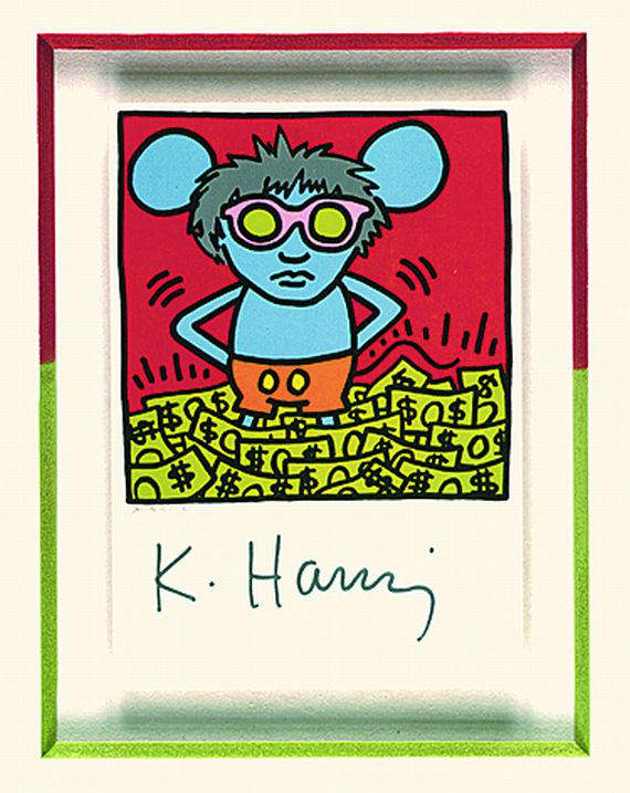 Keith Haring - Andy Mouse - Kunstpostkarte