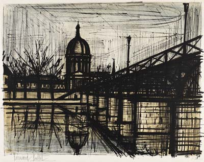 Bernard Buffet - Paris. Le pont des arts