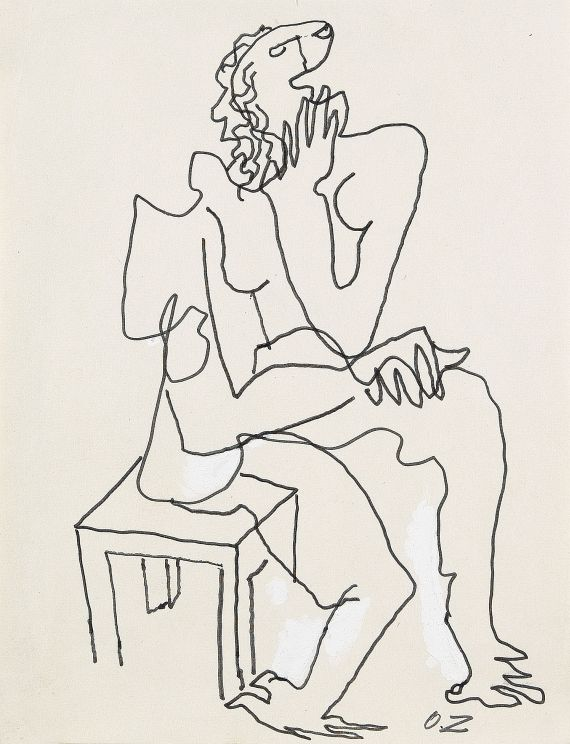 Ossip Zadkine - Homme assis