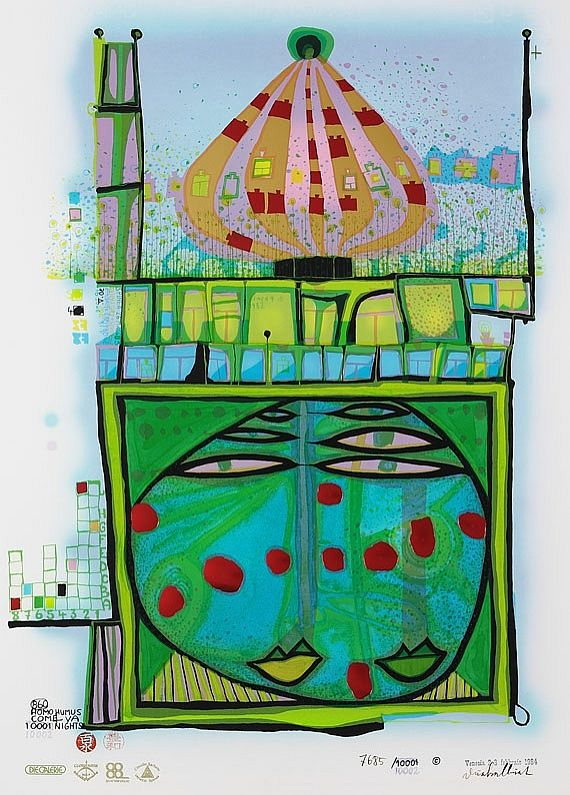 Friedensreich Hundertwasser - 10002 nights Homo Humus come va how do you do