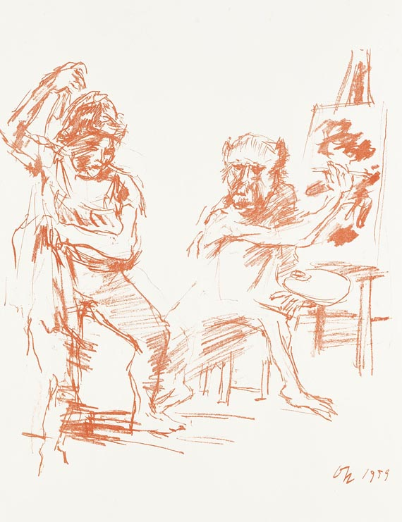 Oskar Kokoschka - 2 Bll.: Action Painter. Ruth V