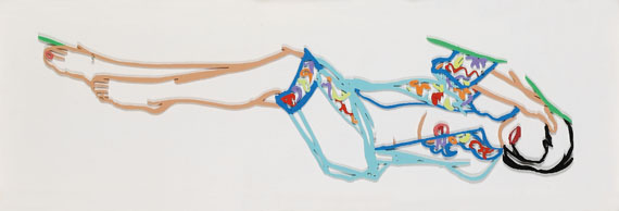 Tom Wesselmann - Monica reclining in Chinese robe