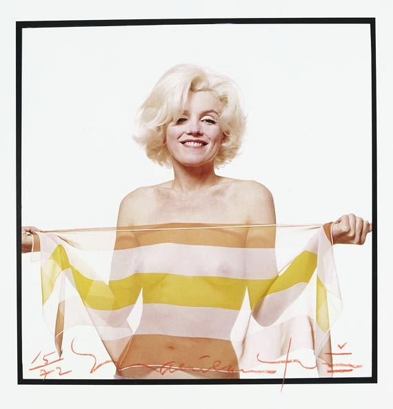 Bert Stern - Marilyn in Striped Scarf
