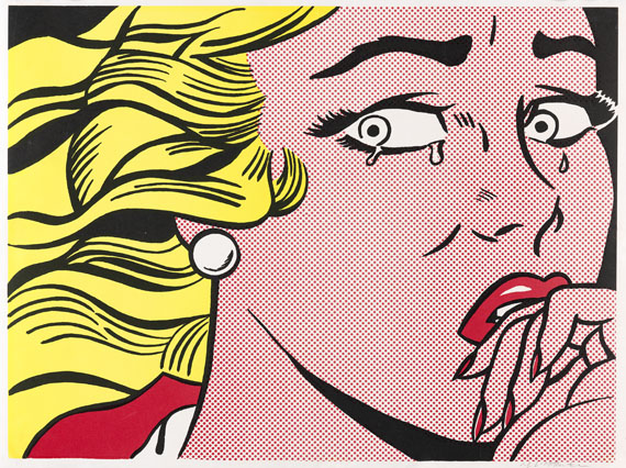 Roy Lichtenstein - Crying Girl - Signatur