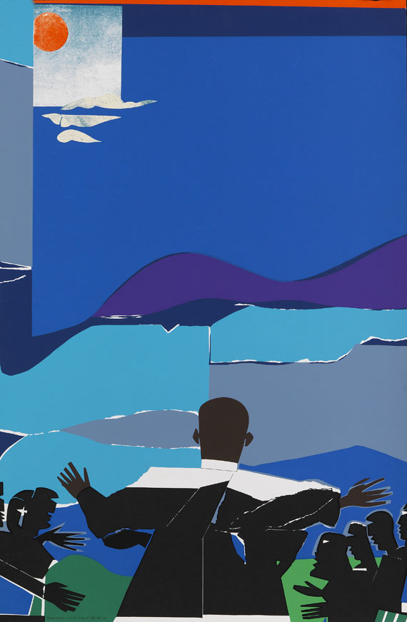 Romare Bearden - Martin Luther King, Jr. - Mountain Top