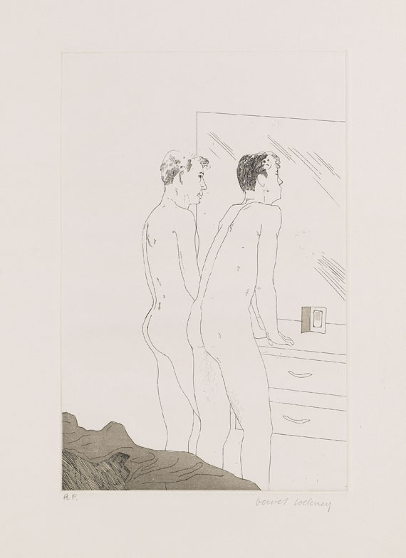 David Hockney - 2 Blätter: Projects for the Cavafy Suite