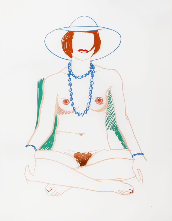 Tom Wesselmann - Monica crosslegged with Beads