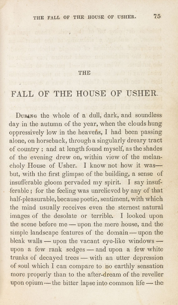 Edgar Allen Poe - Tales of the grotesque and arabesque. 1840.