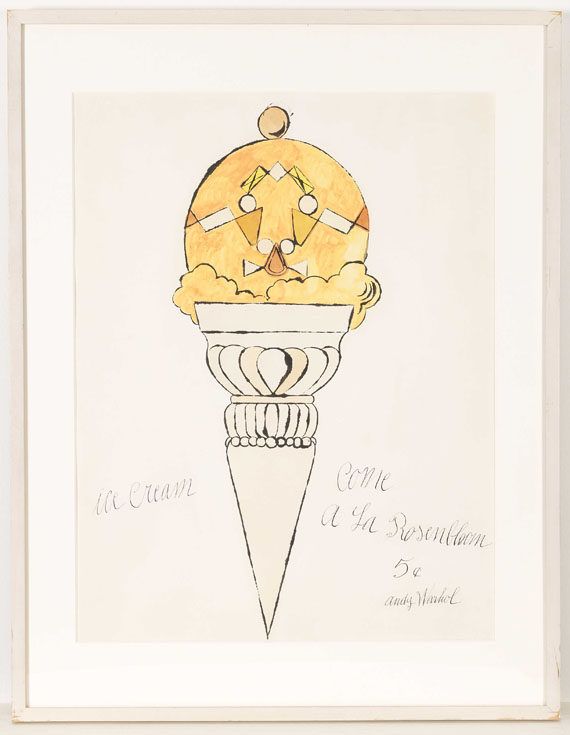 Andy Warhol - Ice Cream Cone - Rahmenbild