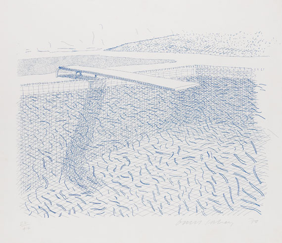 David Hockney - Lithographic Water made of lines