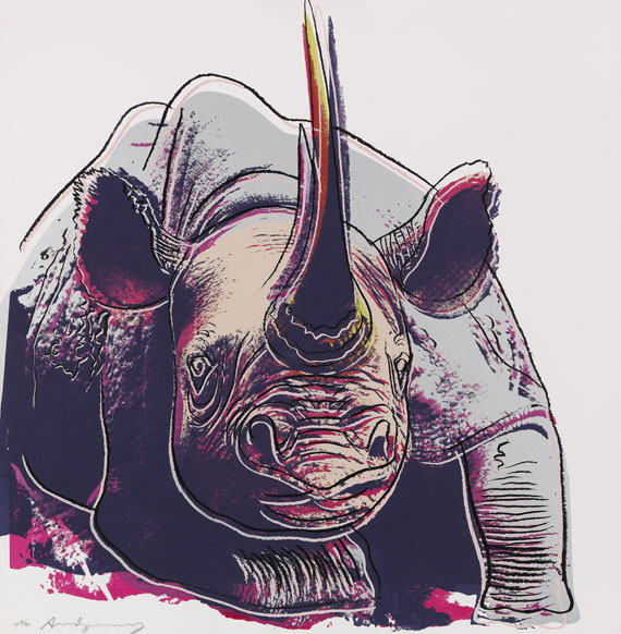 Andy Warhol - Rhinoceros (Endangered Species)
