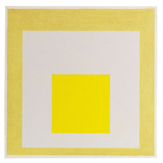 Josef Albers - Study for Homage to the Square: Two Yellows with Silvergray - Weitere Abbildung