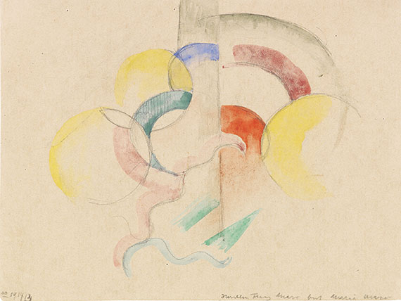 Franz Marc - Abstraktes Aquarell I