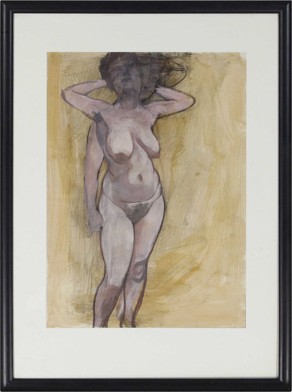 George Grosz - Standing Female Nude in Two Poses - Rahmenbild