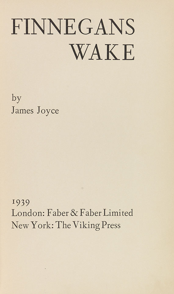 James Joyce - Finnegans Wake