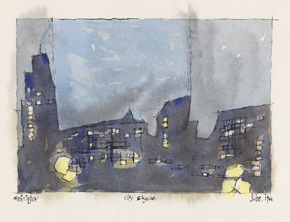 Lyonel Feininger - City Skyline