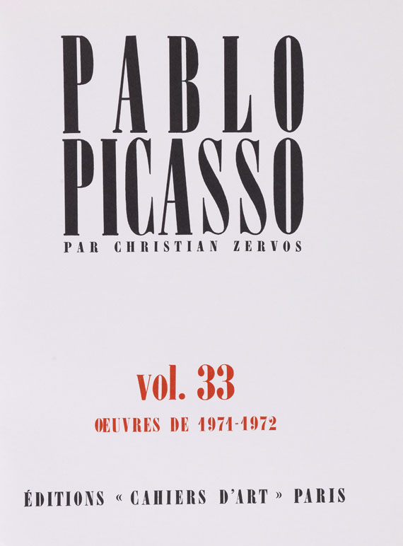 Christian Zervos - Pablo Picasso. Oeuvres