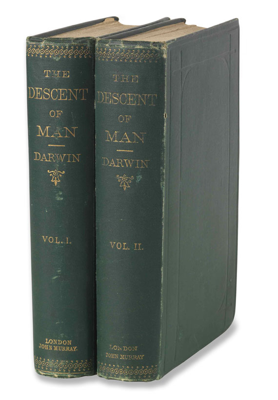 Charles Darwin - The descent of man. 2 Bände