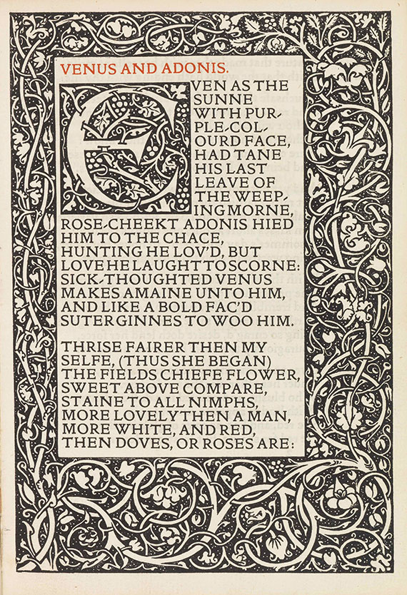 William Shakespeare - Poems, Kelmscott Press